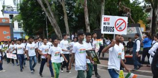 Participants in the mini-marathon 'Run for Unity' spreading awareness on drugs. Photo: Time8